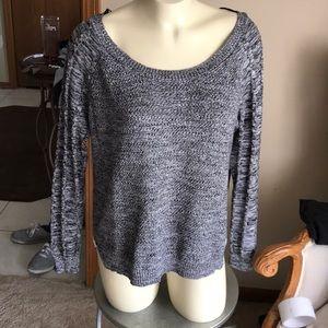 Women's  black, gray & white sweater